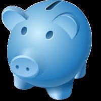Shalom MFB - Blue Piggy Bank