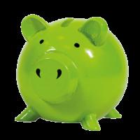 Shalom MFB - Green Piggy Bank